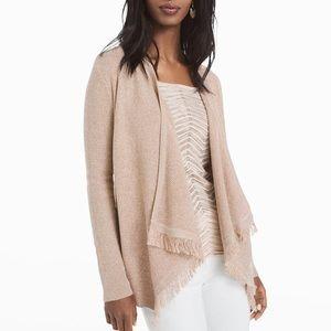 WHBM Fringe Coverup Sweater size M